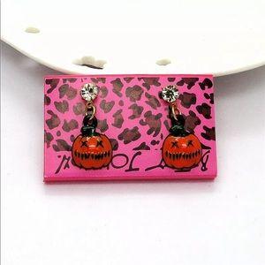 Betsey Johnson Halloween Dangle Pumpkins